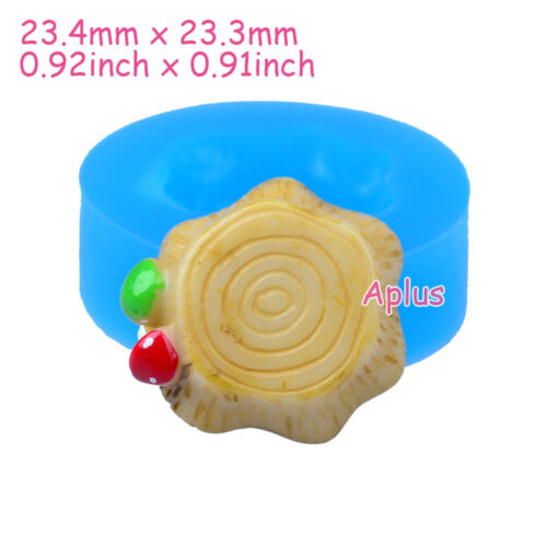 PFiEB546 23.4mm Stump Silicone Mold Candy Cookie Biscuit Resin DIY Handamde Wax