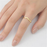 Usa Seller Tiny Tiara V Ring Sterling Silver 925 Best Deal Yelow Jewelry Size 9