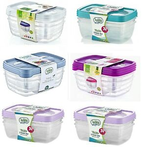 3Pc-Plastic-Food-Container-Storage-Box-LunchBox-Office-Container-With-Lid-1-2LT