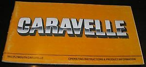 NOS-Mopar-83-Plymouth-Caravelle-Owners-Manual-FWD-K-Car-FREE-SHIPPING