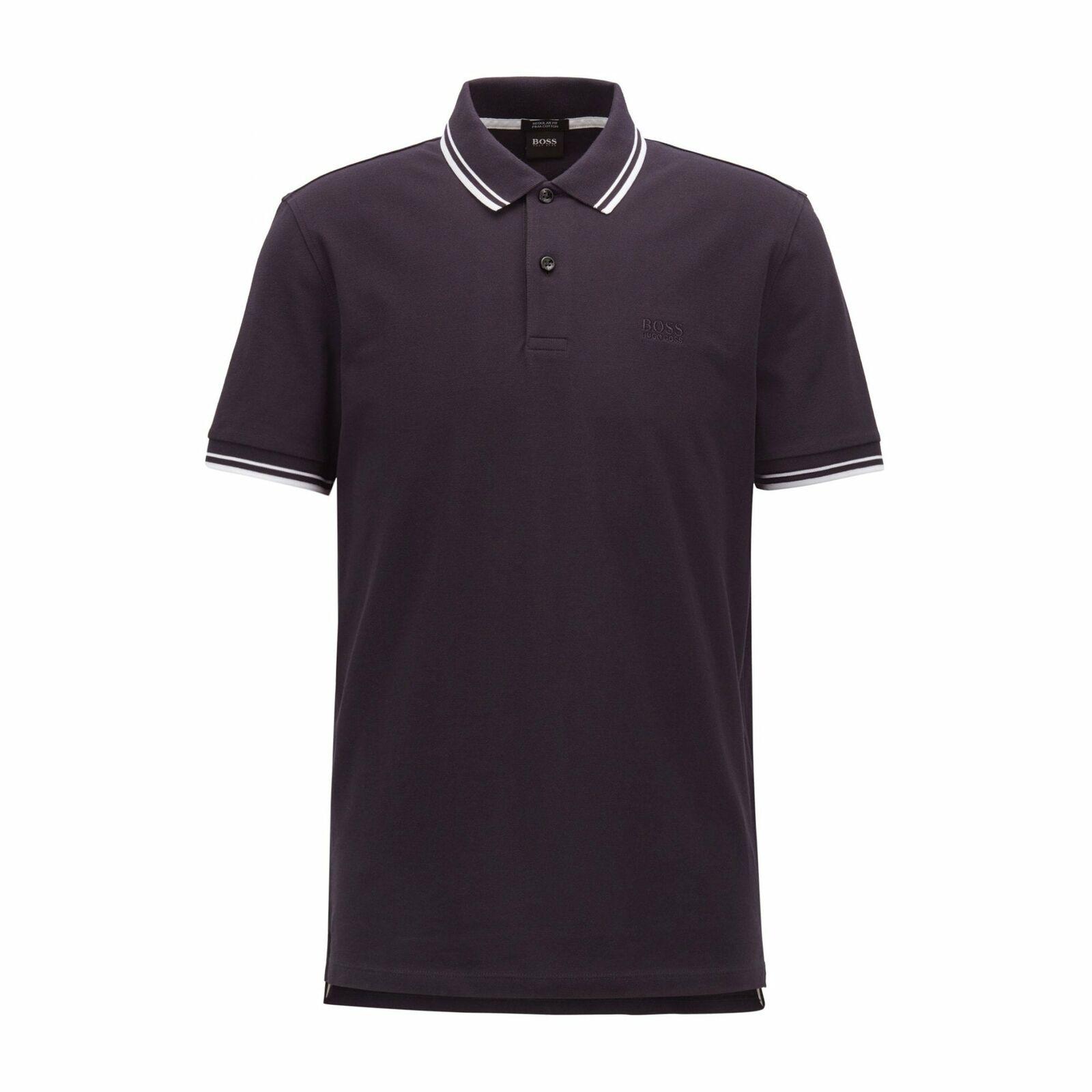 Hugo Boss pourparlers 16 Manches Courtes Coton Bleu Marine Polo Shirt