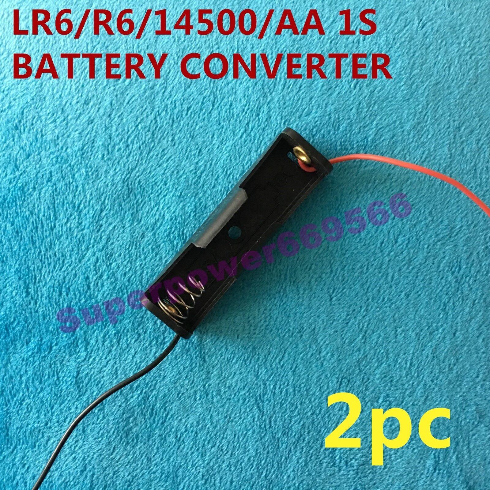 2PC one slot plastic converter holder clip for 1.5V AA R6 LR6 14500 3.6V 3.2V