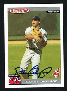 Details About Rodney Choy Foo 813 Signed Autograph Auto 2004 Topps Total Baseball Card