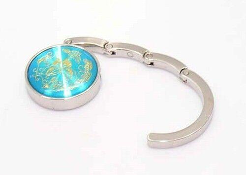 Bijoux fantaisie doré papillon aimantée Bleu turquoise ACCROCHE Sac à main