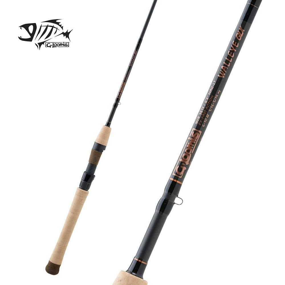 G Loomis GLX Walleye Spinning Rod WPJR822S GLX 6'10