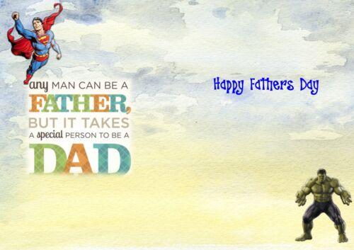 personalised birthday card Super Hero dad Granddad