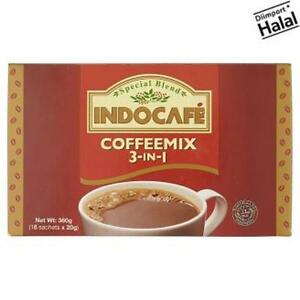 18 Sachets X 20g Discreet Indocafe 3-in-1 Special Blend Coffeemix 360g