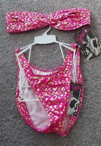 Ujena-Bikini-Swimsuit-Gold-Pink-size-LL
