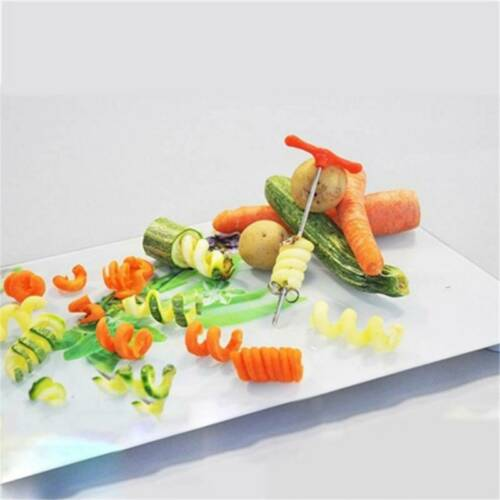 Stainless Steel Manual Fruit Potato Chips Twisted Spiral Slicer Tool SU