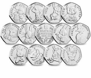 Beatrix-Potter-2016-2017-2018-Jemima-Puddleduck-Peter-Rabbit-Cheap-50p-Coin-Hunt