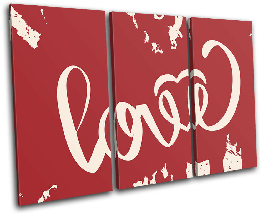 Love Typography Blood Splat  Love TREBLE TREBLE TREBLE TELA parete arte foto stampa 8f4508