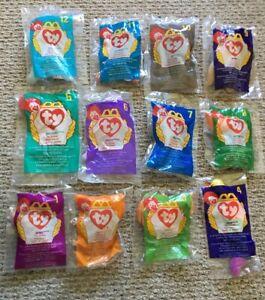 Set of 12 New 1998 Ty McDonalds Teenie Beanie Babies Baby Complete Set Sealed