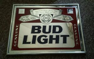 Vintage 1992 Bud Light Mirror Ebay