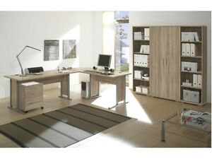 b ro office line superset sonoma b rom bel komplett schreibtisch regal 109644. Black Bedroom Furniture Sets. Home Design Ideas