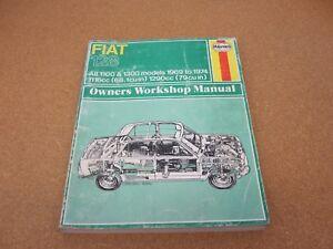 1969-1974 Haynes Fiat 128 shop repair service wiring manual   eBayeBay