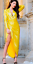 John-Zack-Sequin-Dress-Wrap-Over-Plunge-Yellow-long-sleeve thumbnail 5