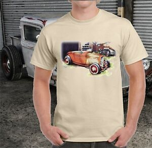 FORD-ROADSTER-HOT-ROD-T-SHIRT
