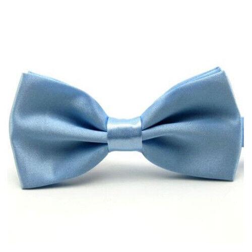 Men/'s Satin Pre-Tied Plain Bow Tie Wedding Adjustable Tuxedo Bowties Necktie NEW