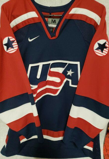 Nike Team USA Hockey Stitched Olympic Jersey - Mens Medium