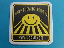 Beer Breweriana COASTER *>> HOPPY Brewing Co ~ Sacramento, CALIFORNIA Since 1999