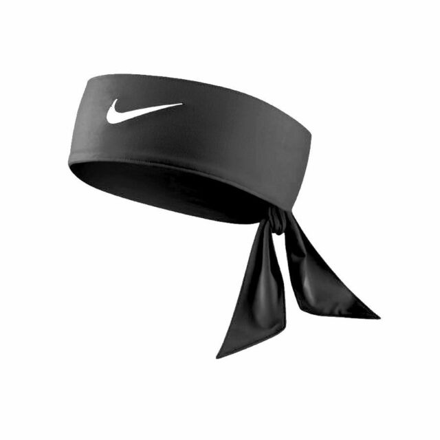 NEW Nike Dri-Fit Head Tie 2.0 Womens Headband Tennis Basketball White Black Volt