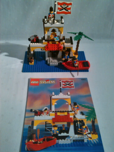 Lego 6263 Piraten Imperial Outpost 100/% komplett mit OBA Schiff Außenposten