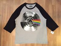Pink Floyd Record Baseball T Shirt Dark Side Of The Moon Harvest