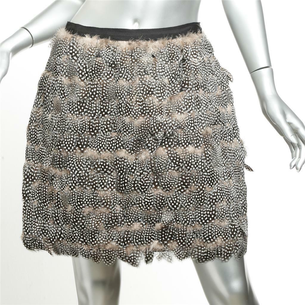 Jason Wu para mujer  en capas manchado pluma en niveles por encima de rodilla falda 8 M  venta al por mayor barato