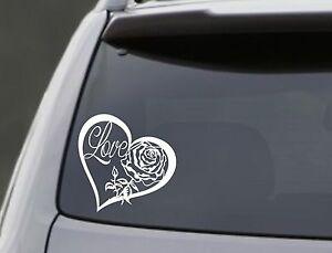 LOVE-HEART-ROSE-Vinyl-Decal-Sticker-Car-Window-Wall-Bumper-Laptop-Symbol-6-034