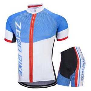 Pro Mens Road Cycling Outfits Jersey Shorts Kits Bicycle Shirt Tights Pants Set