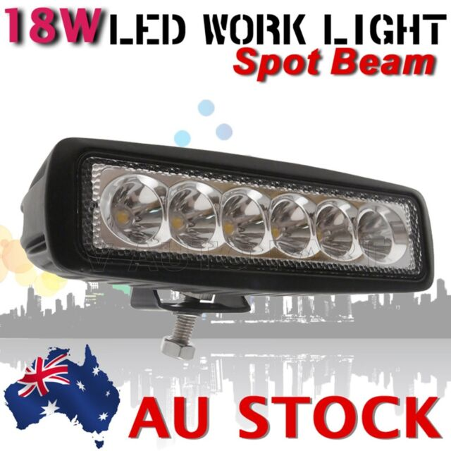 18W LED WORK LIGHT BAR SPOT PENCIL FOG OFF ROAD JEEP BOAT DRIVING LAMP AU SHIP