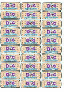30 Doc McStuffins Stickers Party Bandaid Labels Band Aid ... Doc Mcstuffins Printable Stickers
