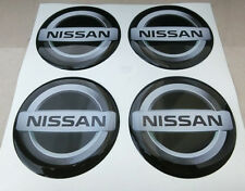 COPRIMOZZI KIT CAP CAPS CENTER 3D X4 PZ 55 mm NISSAN PATHFINDER X-TRAIL NERO