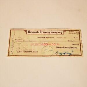 1960-Oshkosh-Brewing-Company-Check