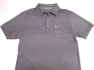 Travis-Mathew-Gray-Pima-Cotton-Poly-Blend-Athletic-Golf-Polo-Shirt-Mens-Medium