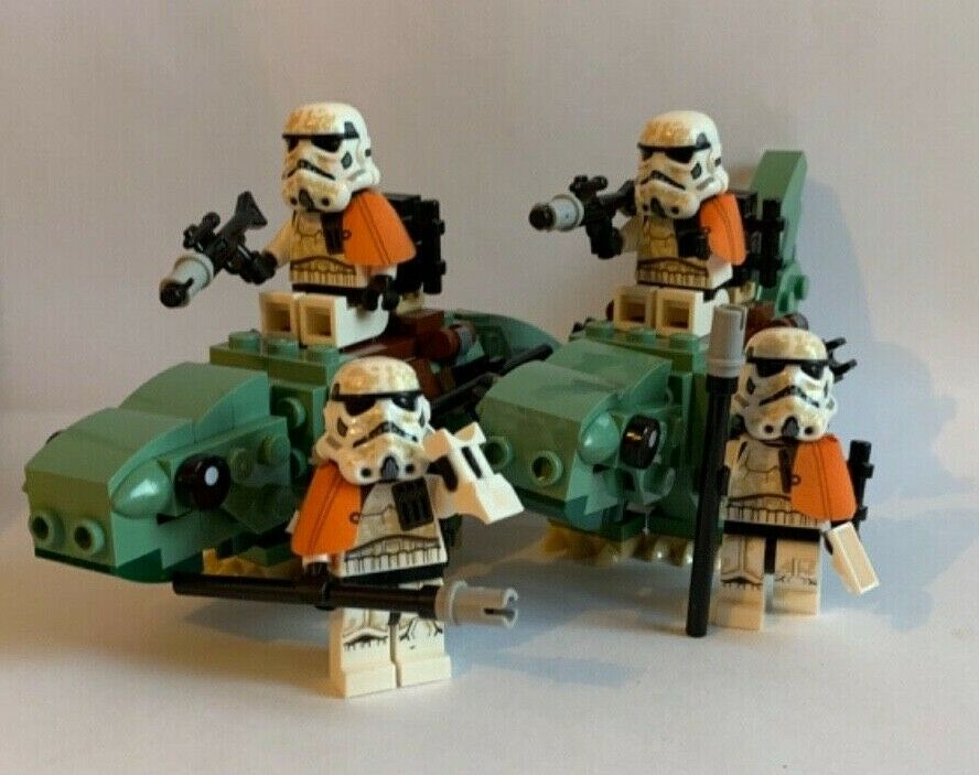 LEGO Star Wars - 4  SAND STORMTROOPERS 2 DEWBACK from 75228 pauldron backpack