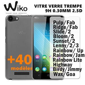VITRE-PROTECTION-EN-VERRE-TREMPE-FILM-DE-PROTECTEUR-D-039-ECRAN-Wiko-40Modeles