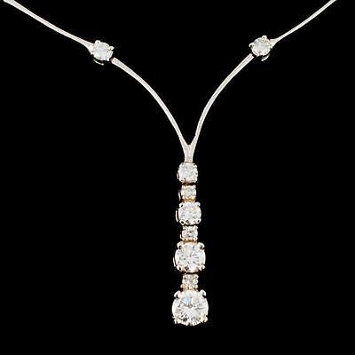 11. 14K Gold 1.40ctw Diamond Necklace Lot 11