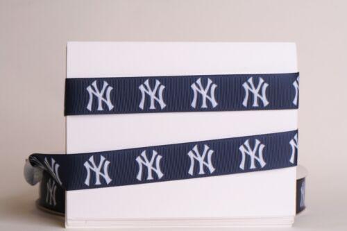 "New York Yankees 7//8/"" Cinta del Grosgrain 1,3,5,10 metros de béisbol de la nave de usaa"