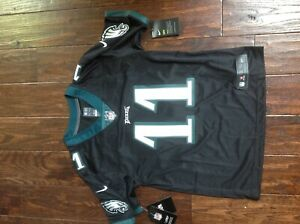 100% authentic 4d494 c7344 Details about NEW Nike #11 Carson Wentz Eagles Black NFL Jersey Youth Large  14/16 SEWN ON $110