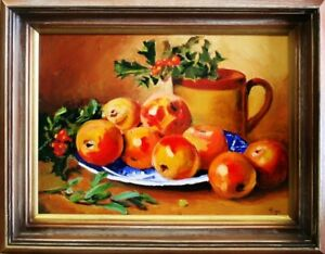 Painting-034-Fruit-034-Handmade-Oil-Painting-Picture-Oil-Frame-Pictures-G03578