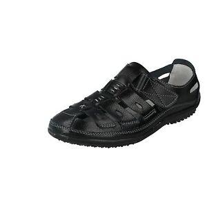 Oferta-Down-To-Earth-F3094-Mujer-Negro-100-Piel-Superior-y-Forro-Zapatos-de