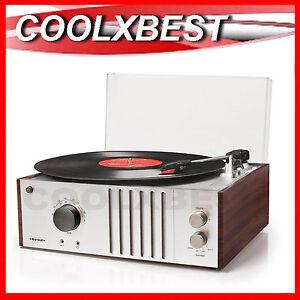 CROSLEY-TECH-MODERN-RETRO-3-SPEED-TURNTABLE-AM-FM-RADIO-AUX-IN-REFURBISHED