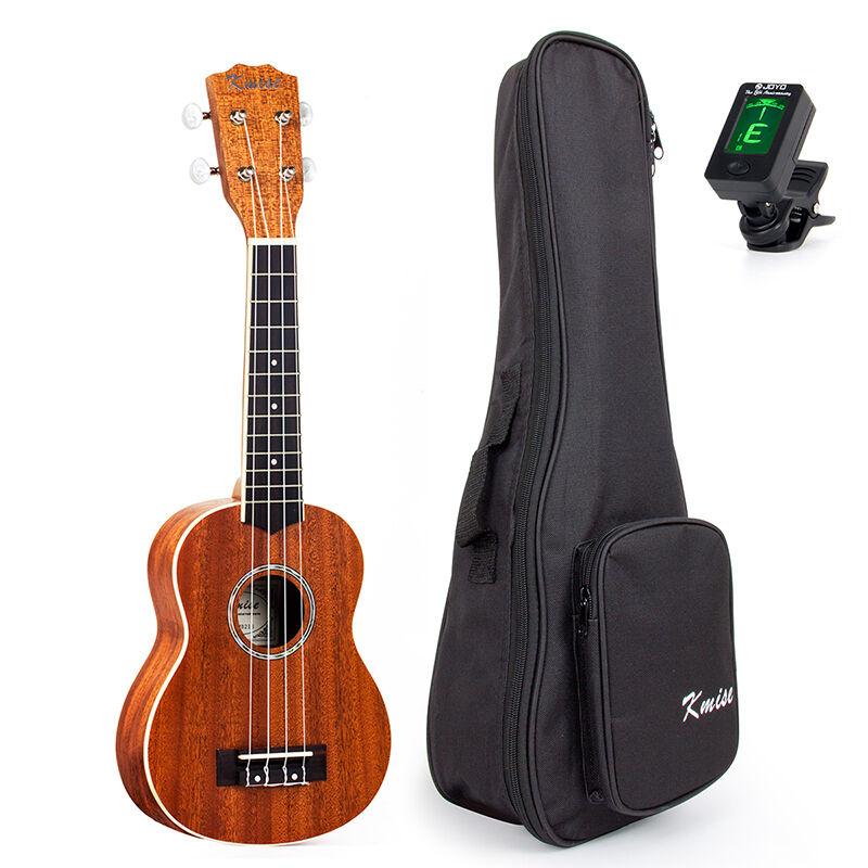 Ukelele Soprano kmise 21 21 21 in (approx. 53.34 cm) Guitarra Laminado Caoba Mate Bolsa De Hawaii Sintonizador  100% garantía genuina de contador