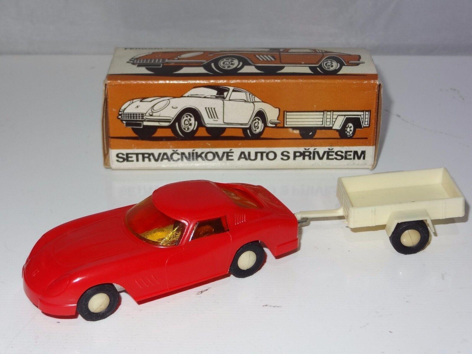 Con precio barato para obtener la mejor marca. V 1 43 Escala Plástico    República Checa Ferrari 275GTB & Remolque Motor De Fricción  todos los bienes son especiales