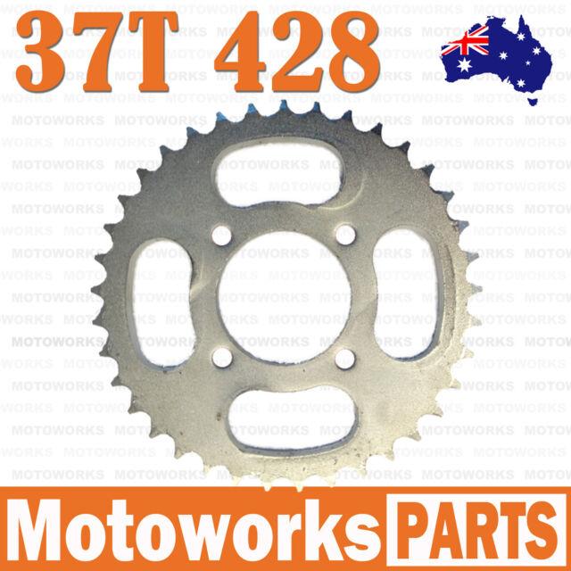 37 Teeth 428 Rear Back Chain Sprocket Cog 125cc PIT PRO TRAIL QUAD DIRT BIKE ATV