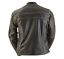 miniature 5 - Black Brand Women's Vintage Rebel Brown Leather Motorcycle Jacket