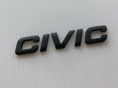 GTI MATT BLACK CHROME 3D EMBLEM BADGE LETTER ALPHABET LOGO CAR TRUCK