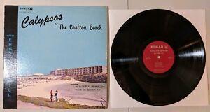 Erskine-Zuill-Calypsos-At-The-Carlton-Beach-LP-Edmar-Bermuda-Reggae-Calypso-VG