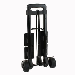 3-Way-Portable-Folding-Luggage-Cart-in-Black-39-5-034-Extension-Handle-Fress-Ship
